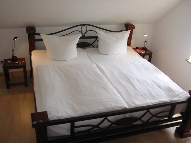 Schlafzimmer Ferienhaus Gut Rattelvitz